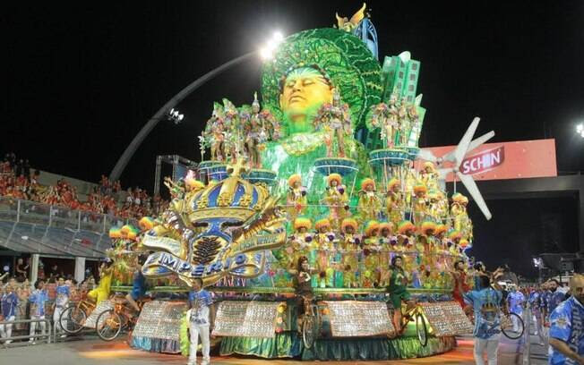 Carro alegórico da Império da Casa Verde. Foto: Claudio Augusto