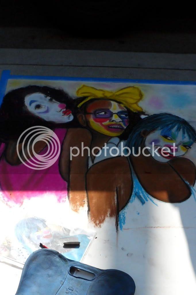 2nd Street: Sidewalk Chalk Art