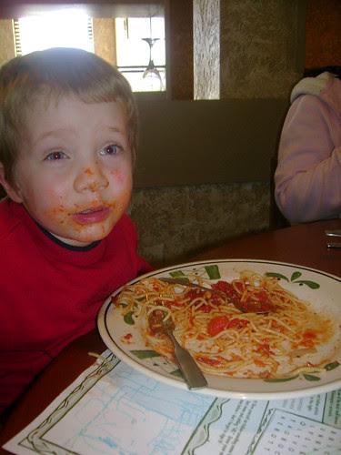 Spaghetti at Olive Garden