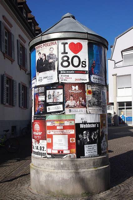 photo advertising pillar litfass posters