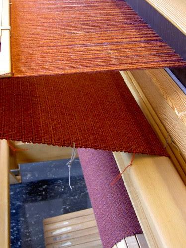 Purple and orange woolstole