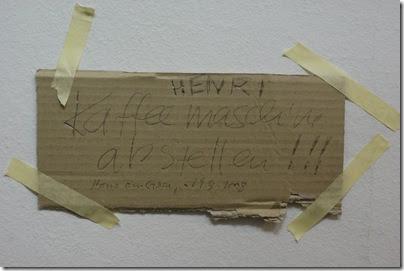 Henri - Denk an die KaffeeMaschine