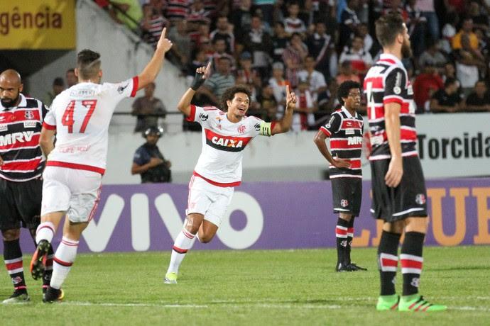 Santa Cruz x Flamengo (Foto: Aldo Carneiro / Pernambuco Press)