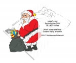Santa Saying Shhh Yard Art Woodworking Pattern - fee plans from WoodworkersWorkshop® Online Store - Santa clay looking over his shouler,yard art,painting wood crafts,scrollsawing patterns,drawings,plywood,plywoodworking plans,woodworkers projects,workshop blueprints