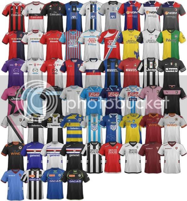 Serie A 2012/13 Season Kits