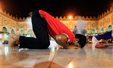 Muslim evening prayer