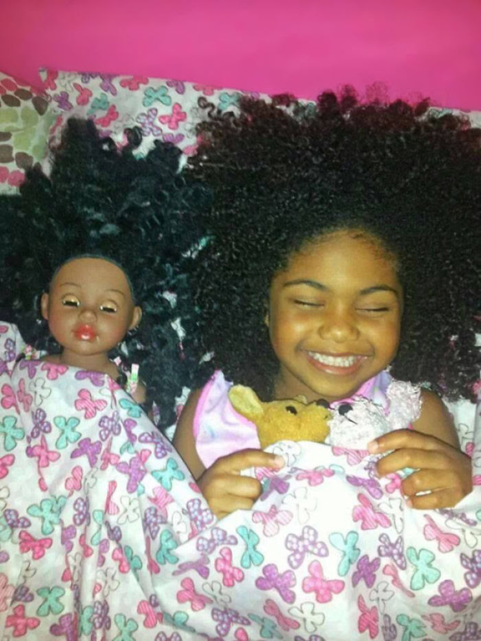 Girl With Look Alike Doll
