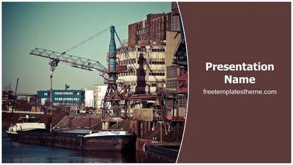 Free Port Industry Powerpoint Template Freetemplatestheme Com