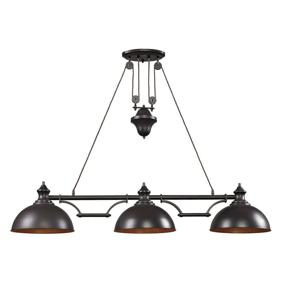 Shop Westmore Lighting Crossens Park 13in W 3Light Oiled Bronze Kitchen Island Light with