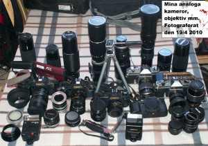 Analog kamerautrustning 100419