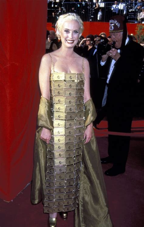 Lizzy Gardiner's Dress Made Out of American Express Gold