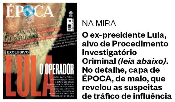 Capa da revista ÉPOCA, de maio, que revelou as suspeitas de tráfico de influência  (Foto: Reprodução)