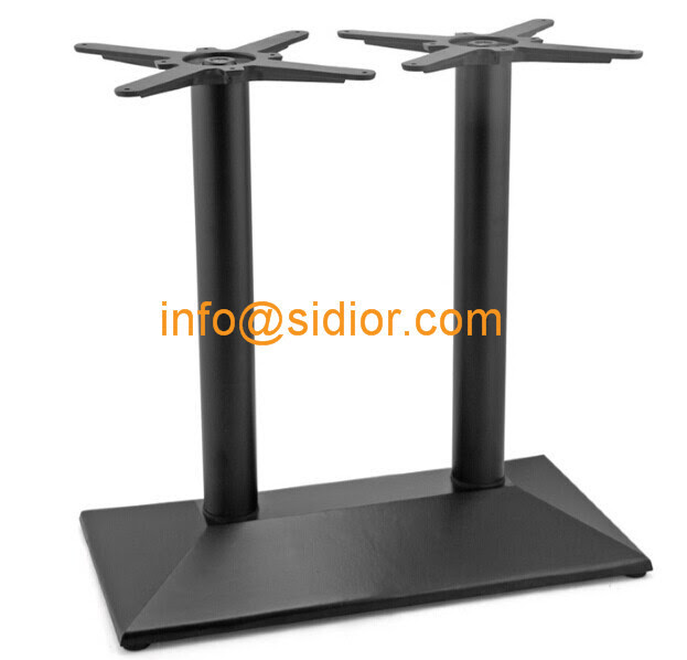black metal table base. powder coated dining table leg, Die casting iron table legs SD713