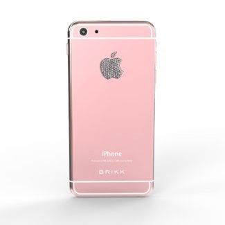 Lux 24k Rose Gold W iPhone 6 with Diamond Logo