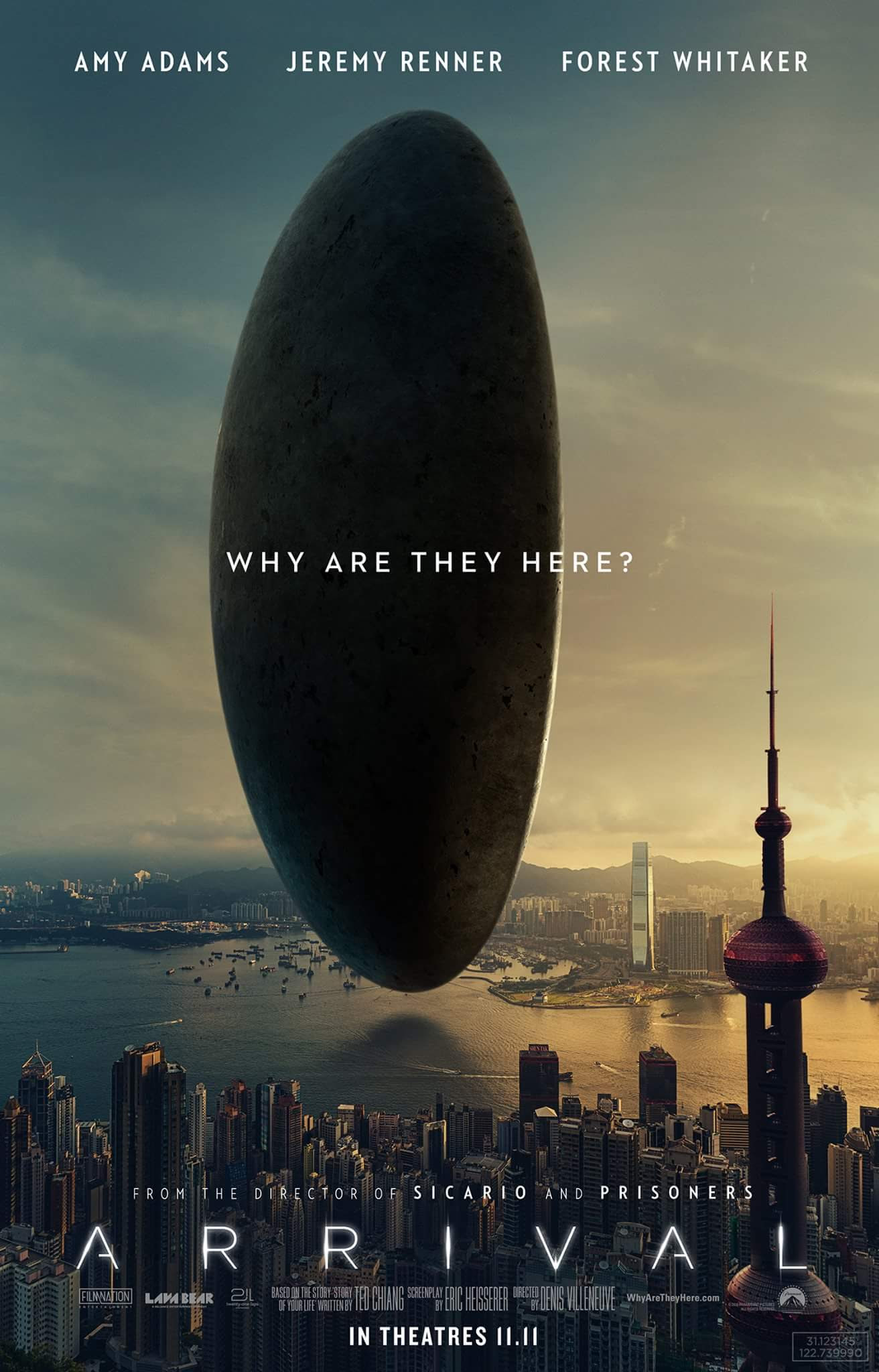Image result for arrival movie poster