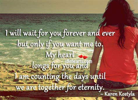 I Will Wait You Forever Quotes