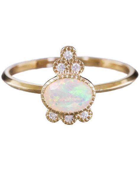 25 Unique Opal Engagement Rings   Martha Stewart Weddings