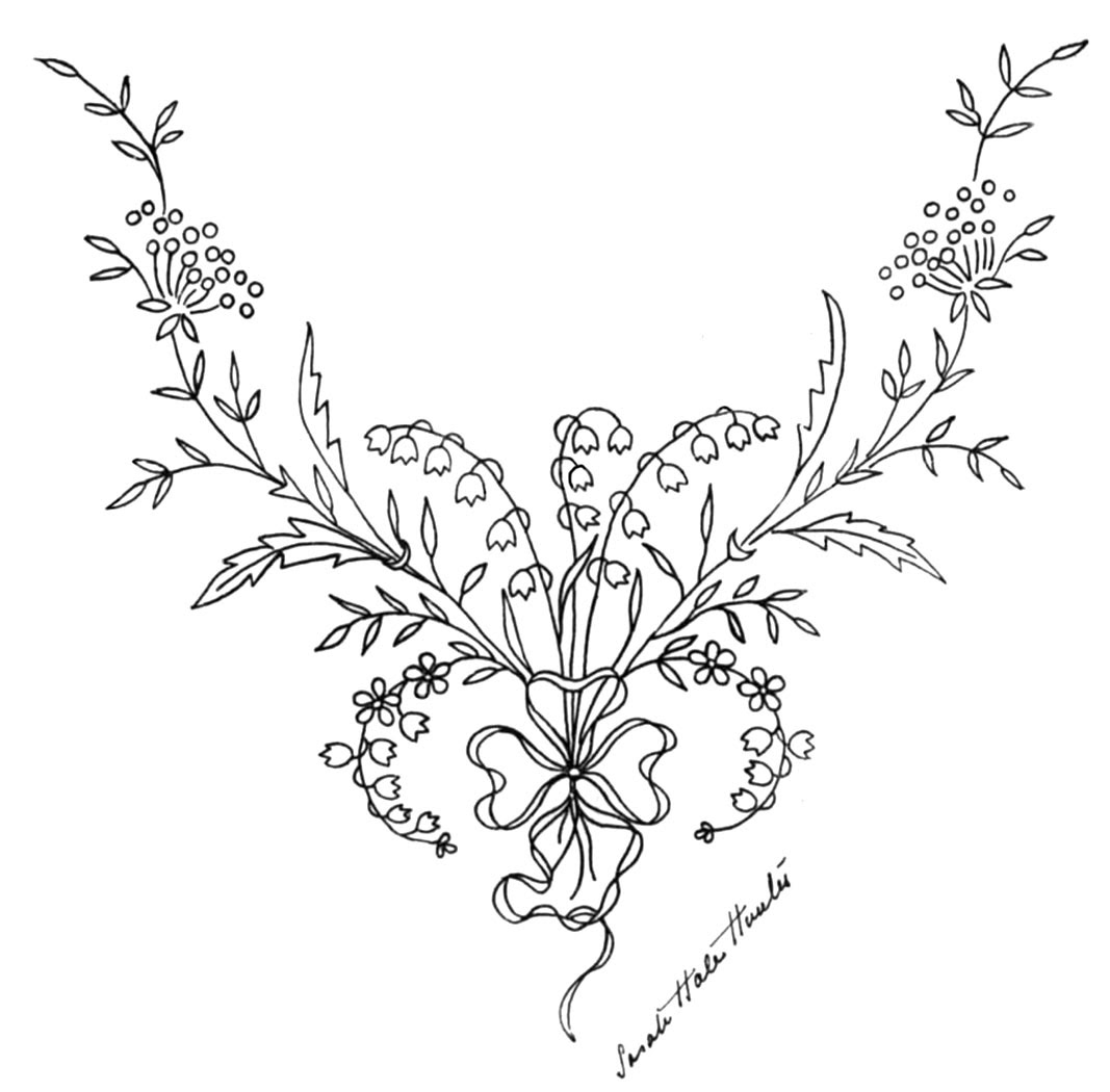 Free Pattern Friday Lily Of The Valley Embroidery Designs Q Is