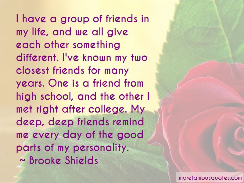 High School Friends And College Friends Quotes Top 1 Quotes About
