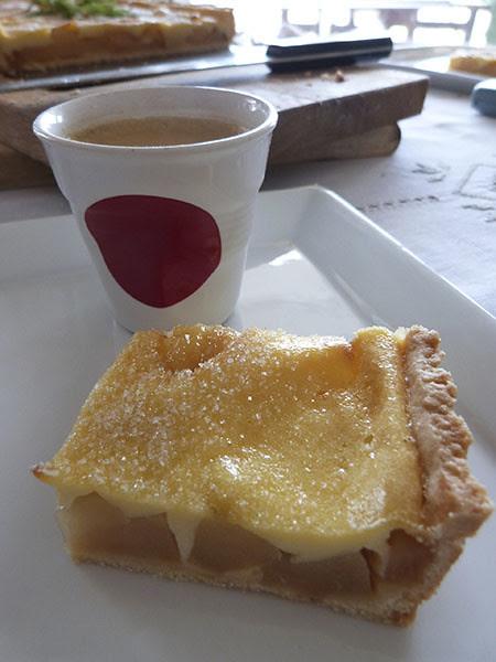 tarte et café