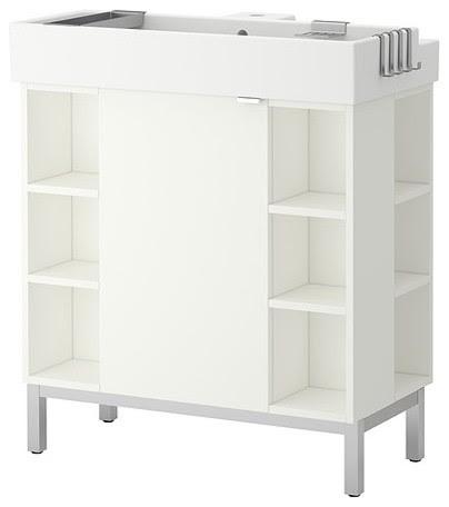 LILLÅNGEN Sink cabinet/1 door/4 end units - modern - bathroom ...