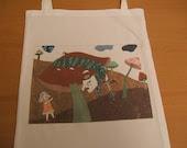 Alice-in-Wonderland  library  book-bag