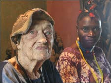 Susanne Wenger and her adopted daughter Doyin Faniyi