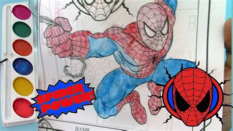 spiderman coloring book coloring pages kids fun art