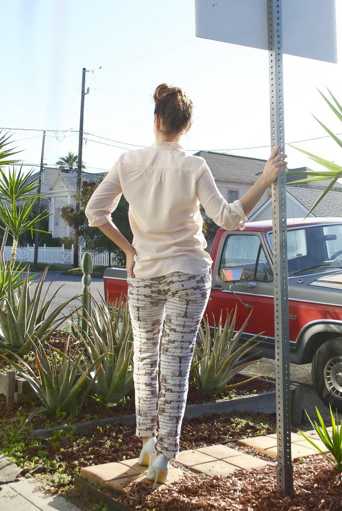 Mood Fabrics Carolina Herrera Brocade Pants
