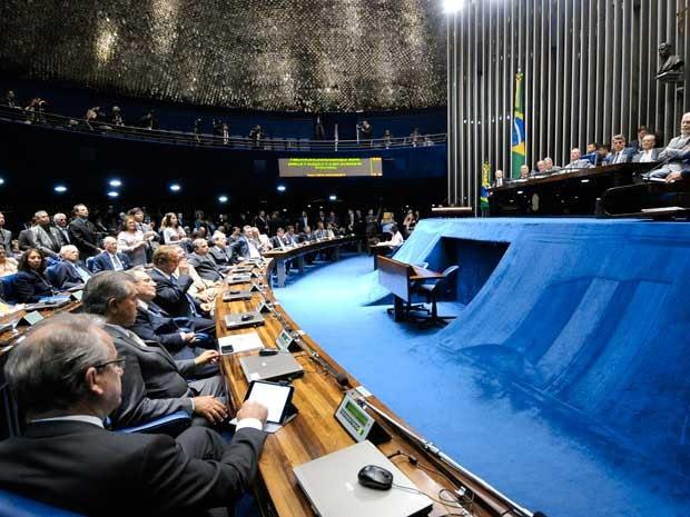 Plenário do Senado durante sessão solene em 2014 (Foto: Geraldo Magela / Agência Senado)