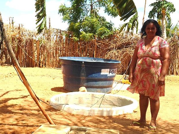 Projeto de reutilização já beneficia moradores do projeto de assentamento Monte Alegre I, em Upanema (Foto: Camila Paula Silvestre/ Centro Feminista 08 de Março)