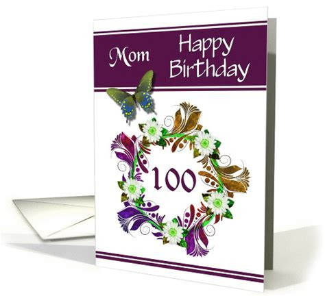 100th Birthday / Mom   Digital Flowers and Butterfly