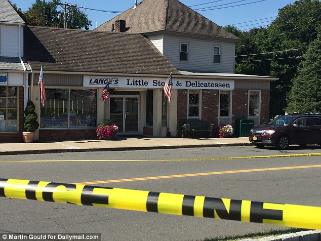 Two people were shot outside Lange's deli in Chappaqua, New York on Monday