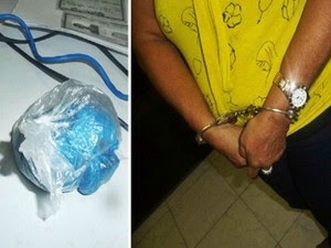Mãe é presa ao levar maconha dentro de sutiã para filho preso no Piauí (Foto: Daniel Santos/Proparnaíba.com )