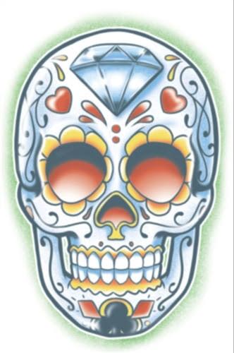 El Jugador Day Of The Dead Temporary Tattoo Bartzs Party Stores