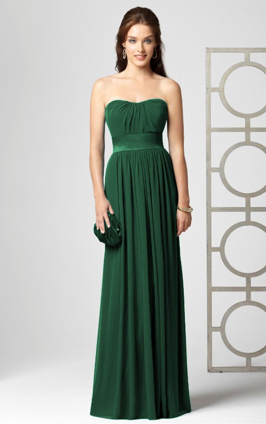 Dark green evening dresses