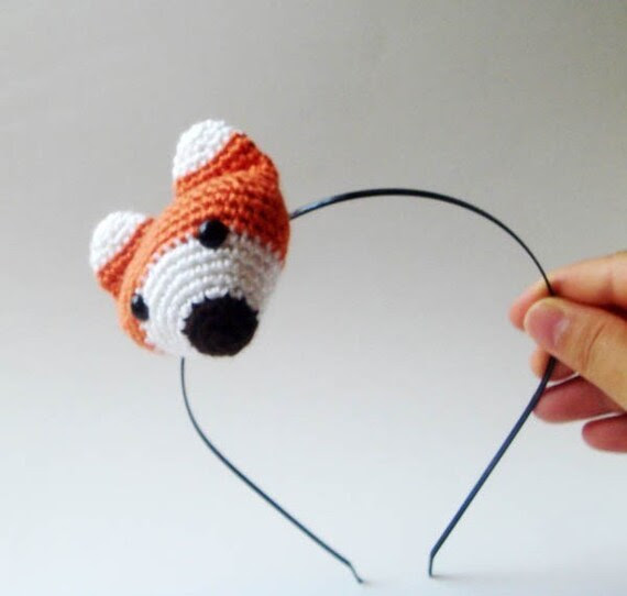 amigurumi fox headband
