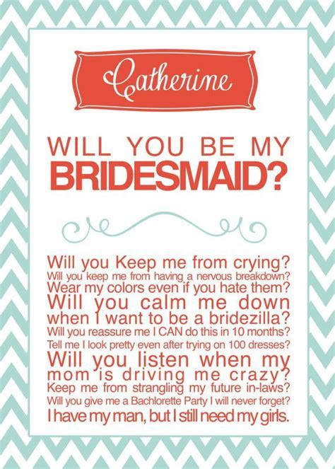 Bridesmaid Card   Cute way to ask your bridesmaids