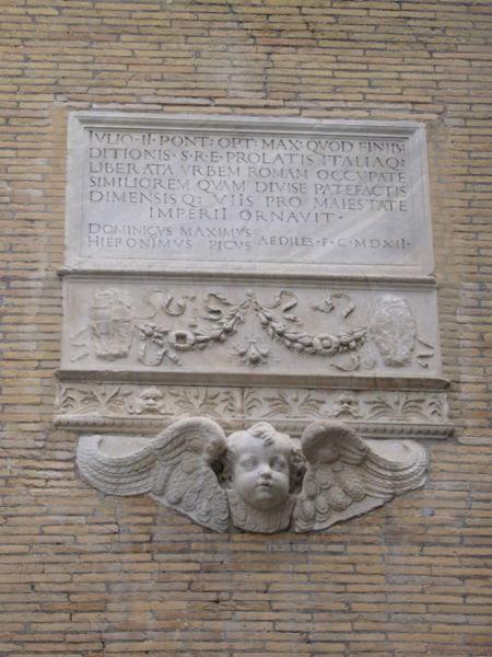 File:Ponte - via Giulia memoria di giulio II 1000224.JPG