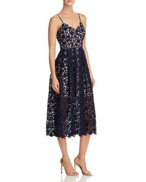 Aqua Lace Cami Midi Dress   Polyester; lining: polyester