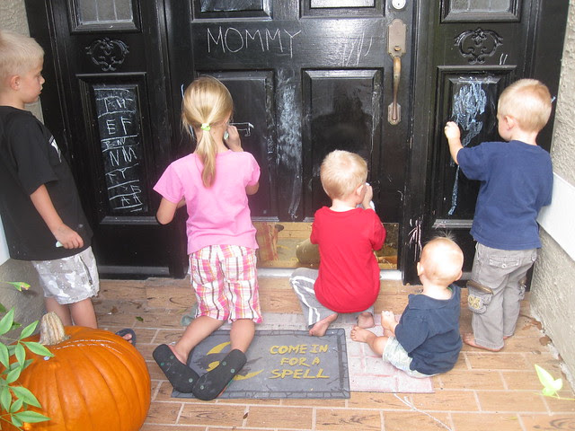 Coloring the Door with Our Neighbors
