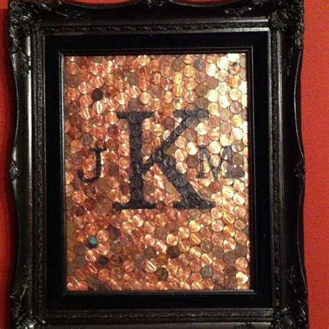 7th wedding anniversary, Old frames and Pennies on Pinterest