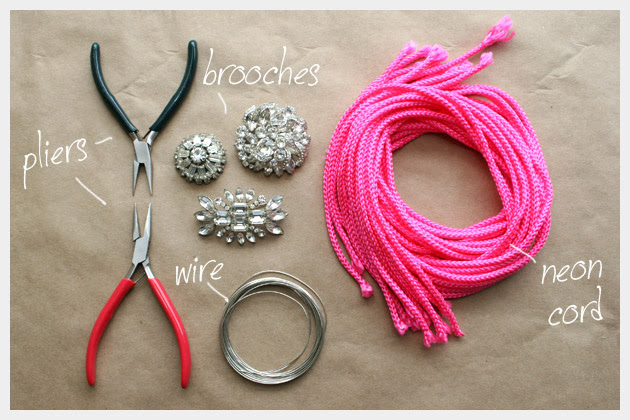 Supplies To Make A Neon Rhinestone Belt