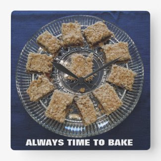 "Wall Clock Date Bars ""ALWAYS TIME TO BAKE"""