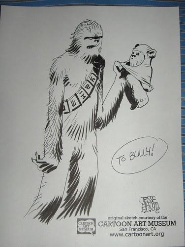 Chewbacca and Ewok, by Jesse Hamm