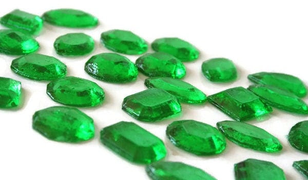 Green Edible Jewels Hard Candy Emerald Green 30 Candy Pack