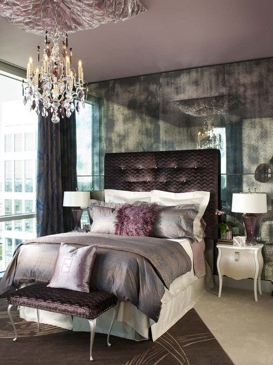 Luscious Purple Bedroom Designs for Modern Interiors - Minimalisti.