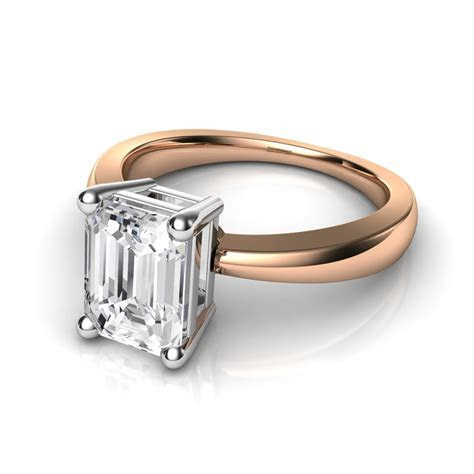 Emerald Cut Solitaire Diamond Engagement Ring Natalie