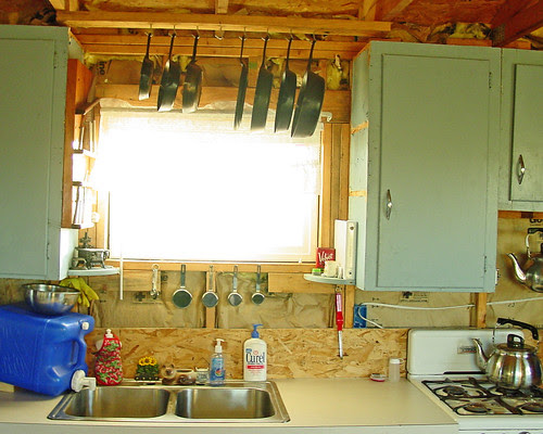 Hillbilly Hill - Cabin kitchen