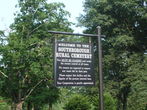 Southborough Rural Cemetery Sign by midgefrazel